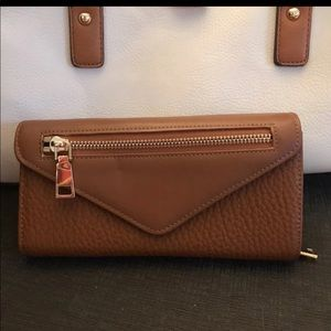 Handbags - NEW Wallet 8 x 4 Vegan Cognac Saddle Tan Large